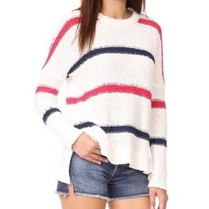 Cupcakes & Cashmere stripe oversized sweater SMALL